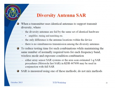 FCC to accept ART-MAN SAR measurements for Diversity Antennas